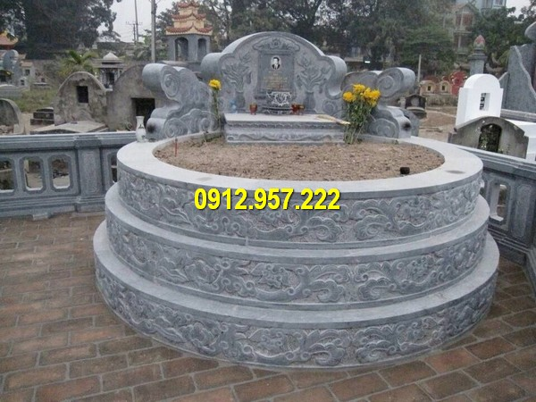 Thiết kế mộ tròn xây bằng đá tự nhiên
