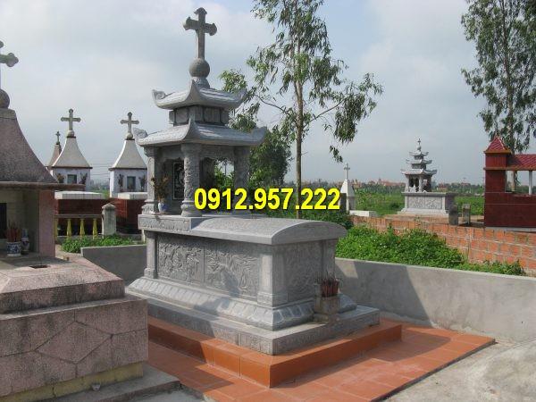 Mẫu mộ đá công giáo bằng đá tự nhiên