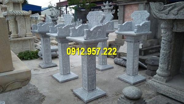 Mẫu cây hương bằng đá thờ thổ công, thần linh ngoài trời đẹp nhất Việt Nam