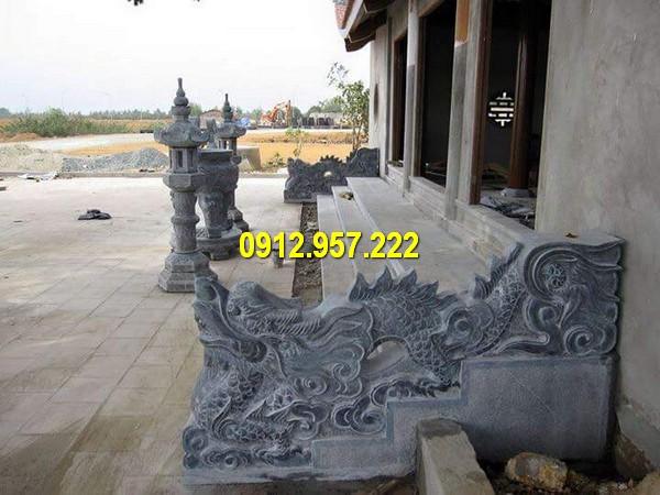 Mẫu chiếu rồng bằng đá đẹp cho nhà thờ họ, đình chùa