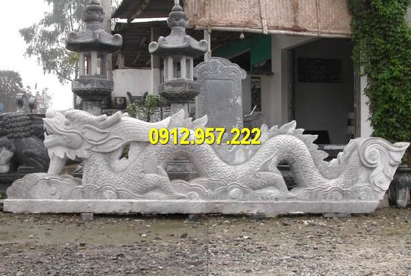 Thiết kế tượng rồng đá phong thuỷ tinh tế