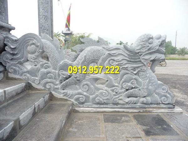 Rồng đá bậc thềm tam cấp đẹp làm tại Ninh Vân, Ninh Bình
