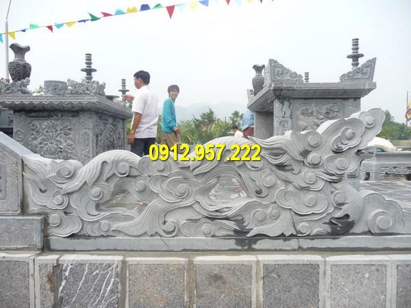 Mẫu lan can rồng đá bậc thềm tam cấp nhà thờ họ đình chùa