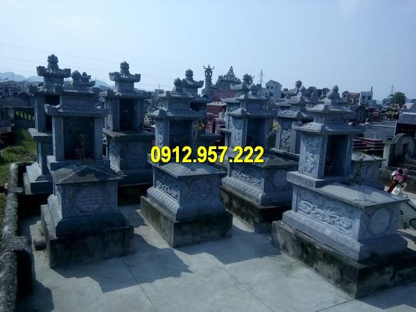 Lăng mộ bằng đá xanh tự nhiên nguyên khối chất lượng cao