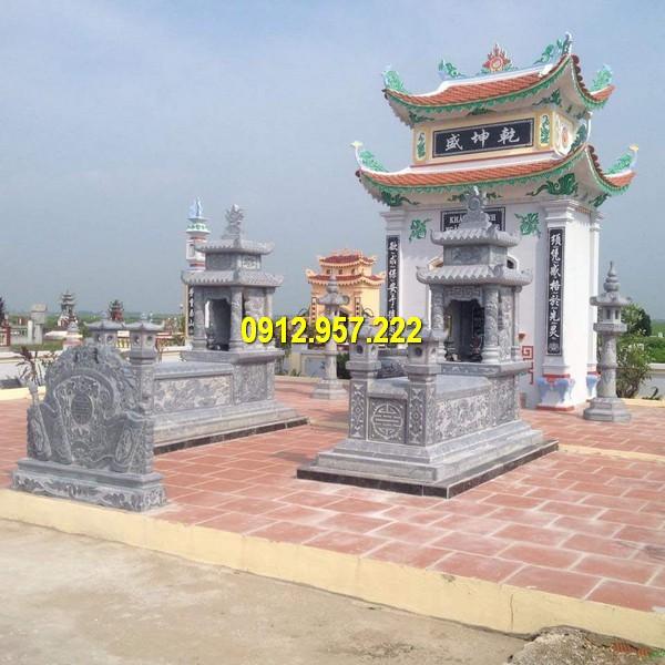 Hình ảnh khu lăng mộ đá dòng họ được thi công tại Hà Nội của Đá mỹ nghệ Thái Vinh