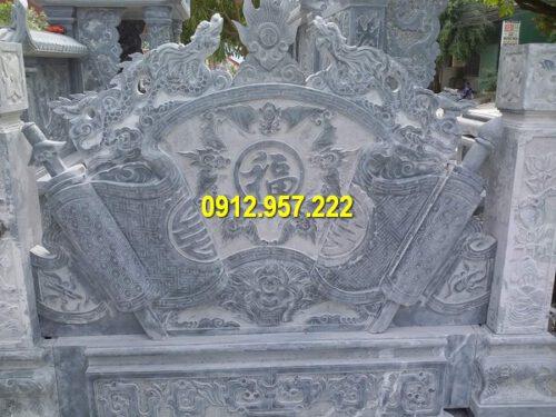 Bình phong đá chạm khắc hình rồng đẹp mắt