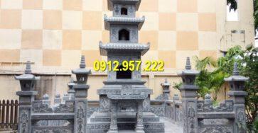 Mộ tháp đá Phật giáo được thiết kế, thi công đẹp mắt, tinh tế