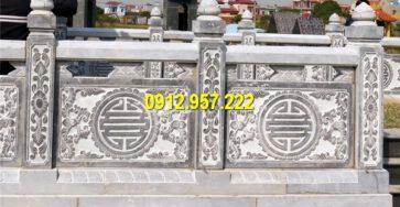 Hàng rào đá xanh chạm khắc đẹp, thiết kế tinh xảo