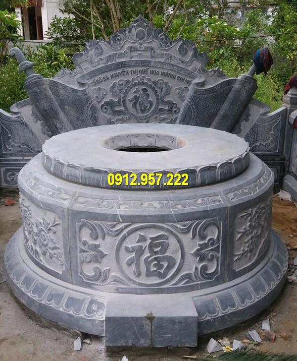 Mẫu mộ đá tròn Ninh Vân Ninh Bình đẹp nhất hiện nay