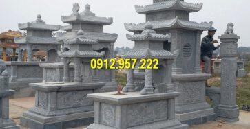 Các mẫu ngôi mộ đá khối hai mái, ba mái đẹp nhất Việt Nam