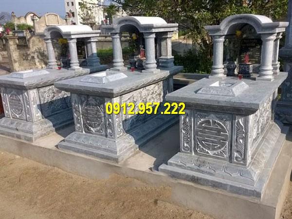 Hình ảnh ngôi mộ đá khối chuẩn phong thuỷ của Đá mỹ nghệ Thái Vinh