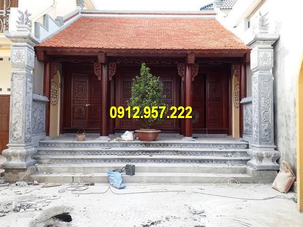 Mẫu từ đường thờ tổ tiên xây dựng trên không gian nhỏ