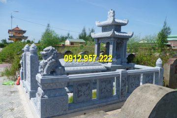 Một khu lăng mộ được làm hoàn toàn từ đá tự nhiên chất lượng cao
