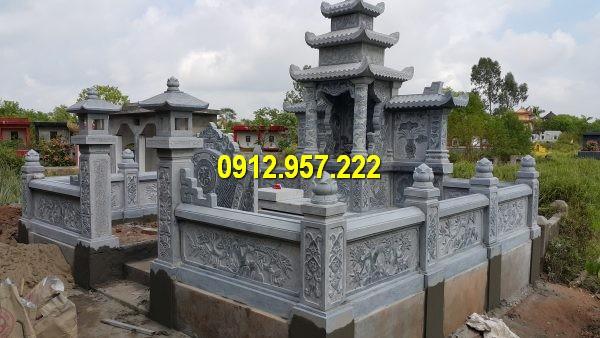 Các kiến trúc lăng mộ Ninh Vân Ninh Bình được làm hoàn toàn từ đá xanh nguyên khối