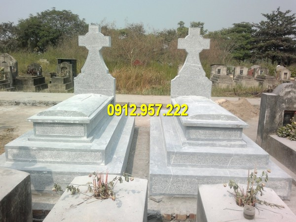 Đá mỹ nghệ Thái Vinh chuyên thiết kế, thi công các sản phẩm mộ đá công giáo Ninh Bình