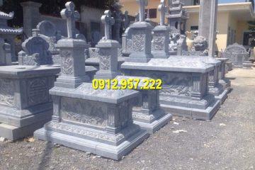 Các mẫu mộ đá công giáo Ninh Bình kích thước đa dạng