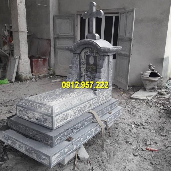 Đá mỹ nghệ Thái Vinh có nhiều thiết kế lăng mộ công giáo