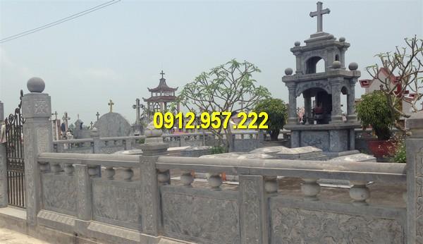 Một khu lăng mộ đá Thiên Chúa giáo được Đá mỹ nghệ Thái Vinh thi công