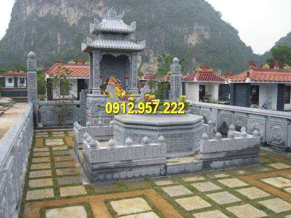 Mẫu khu lăng mộ đá đẹp được thiết kế và chế tác tại Đá mỹ nghệ Thái Vinh