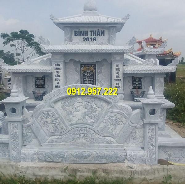 Một mẫu khu lăng mộ đá được thiết kế và chế tác tại Đá mỹ nghệ Thái Vinh