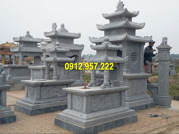 Hình ảnh mẫu lăng mộ đá ba mái chuẩn phong thuỷ