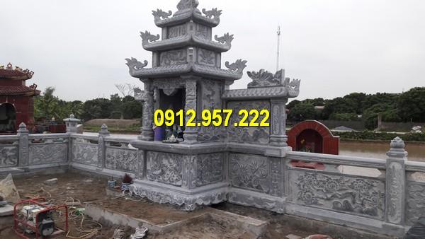 Hình ảnh lăng thờ đá lớn nhất Việt Nam được làm từ đá xanh