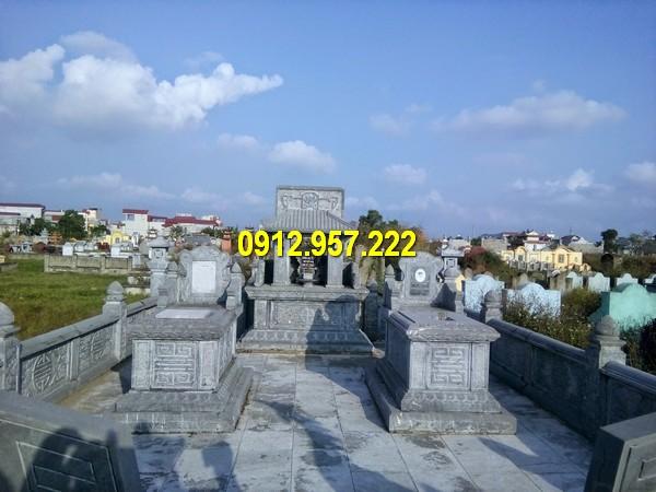Hình ảnh mộ khu lăng mộ được chế tác từ đá tự nhiên chất lượng cao