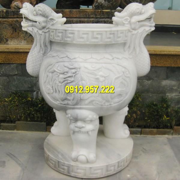 Bán lư hương đá trắng ở Đắk Lắk