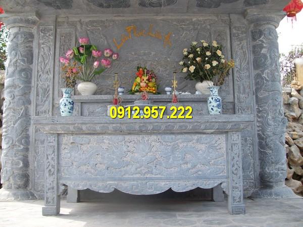 Mẫu bàn thờ ngoài trời đẹp