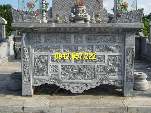 Đá mỹ nghệ Thái Vinh thi công thiết kế làm bàn lễ đá nguyên khối giá rẻ uy tín