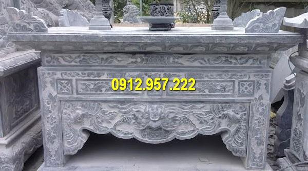 Bàn lễ đá nguyên khối chạm khắc hình rồng