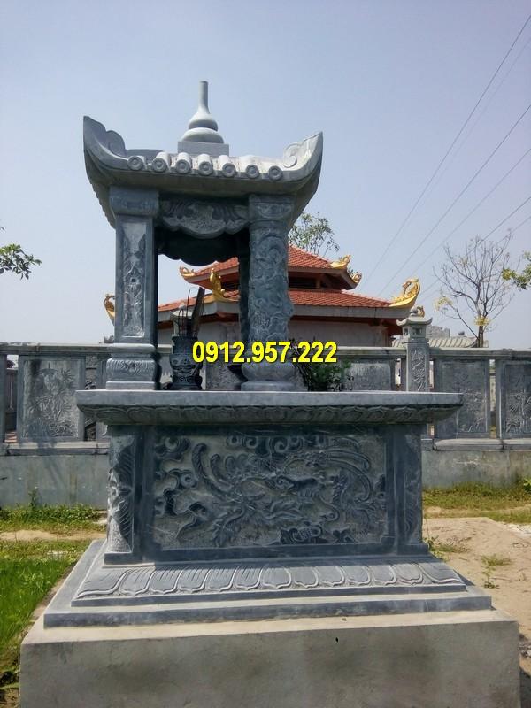 Hình ảnh mẫu mộ một mái đá xanh được chế tác đẹp mắt