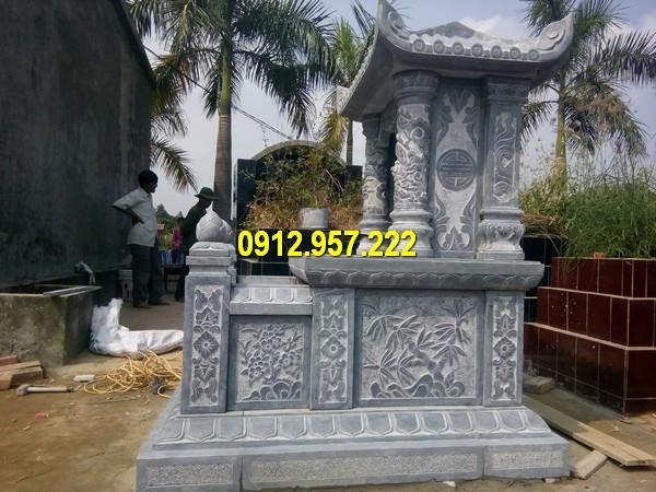 Thiết kế mộ đá một mái của Đá mỹ nghệ Thái Vinh