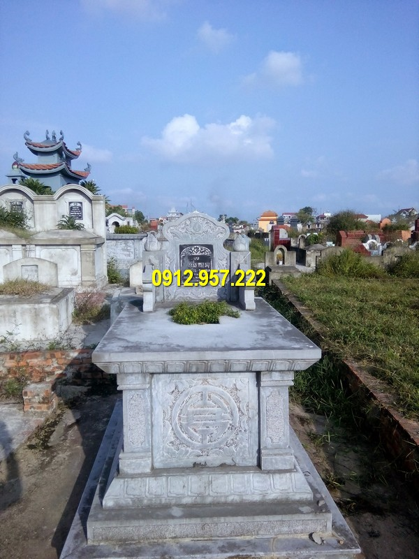 Mộ đá được chế tác từ đá xanh đẹp nhất Ninh Binh