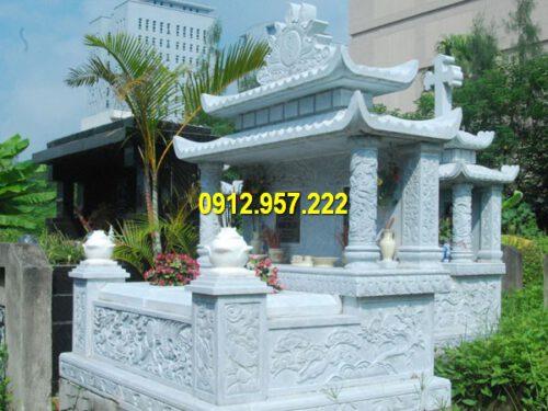 Đá mỹ nghệ Thái Vinh chuyên thiết kế và chế tác các sản phẩm mộ đôi