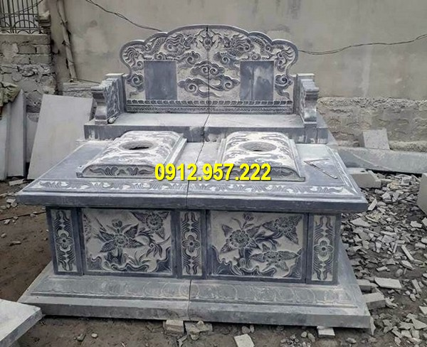 Thiết kế mộ đá đôi chuẩn phong thuỷ đẹp nhất Việt Nam