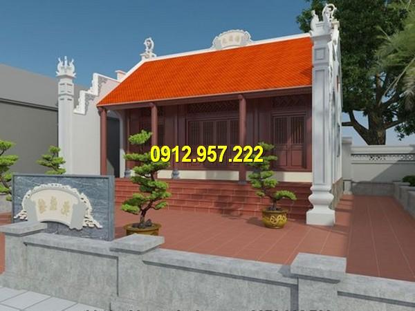 Bản vẽ thiết kế mẫu nhà thờ họ 3 gian đẹp nhất Việt Nam