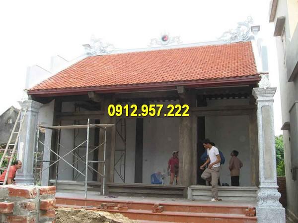 Mẫu nhà từ đường đẹp được thiết kế theo lối cổ truyền