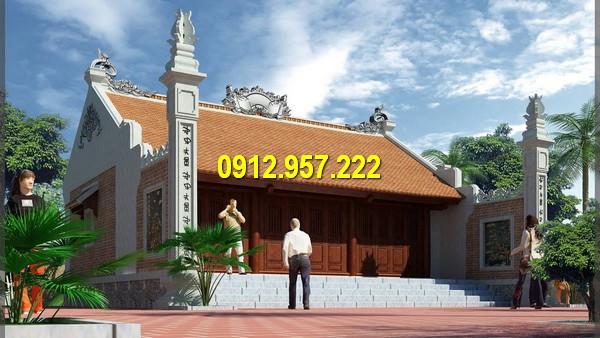 Mẫu nhà thờ đơn giản phù hợp với vùng quê nông thôn vừa làm nhà ở vừa là nơi thờ cũng linh thiêng