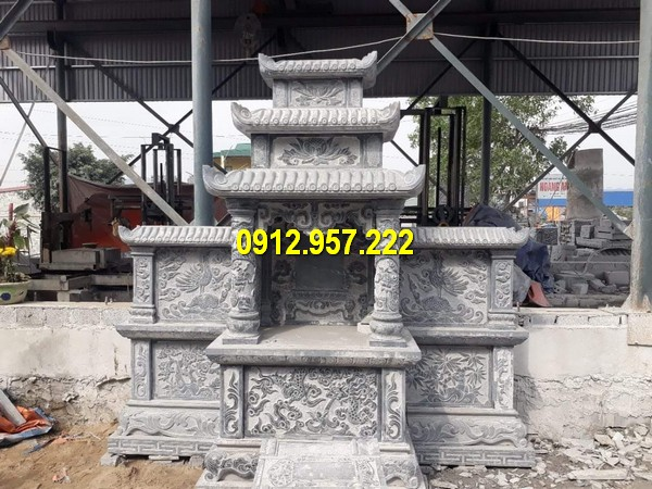 Sản phẩm mộ hai mái có nhiều kích thước khác nhau, tuỳ thuộc vào lựa chọn của khách hàng