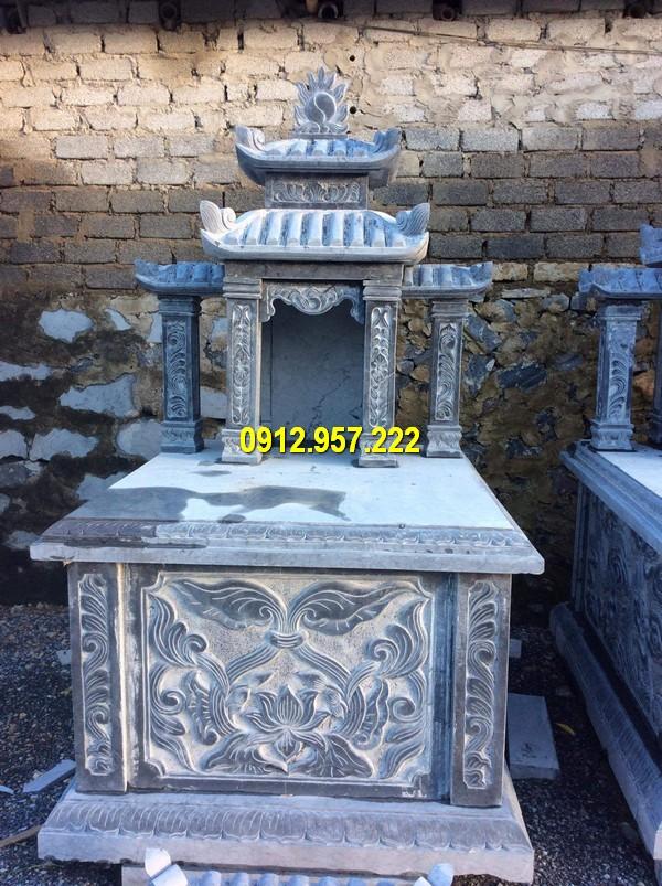 Hình ảnh mộ hai mái đẹp bằng đá xanh