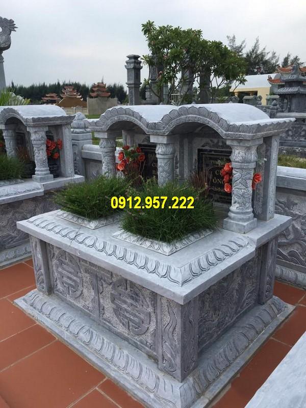 Thiết kế mộ đá vòm theo kiểu mộ đôi đẹp mắt