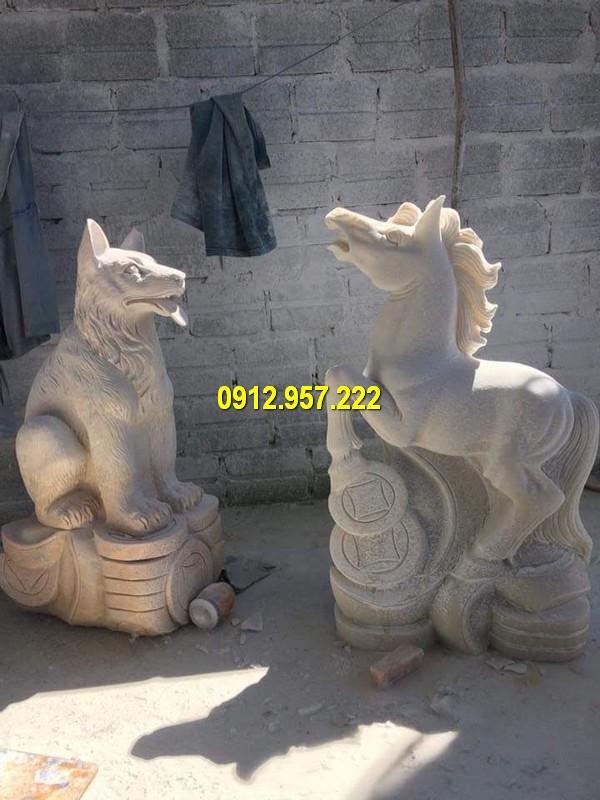 Đá mỹ nghệ Thái Vinh - Địa chỉ bán tượng chó đá, tượng linh vật bằng đá đáng tin cậy