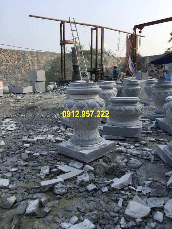Thi công lắp đặt bán đá tảng chân cột ở Bến Tre