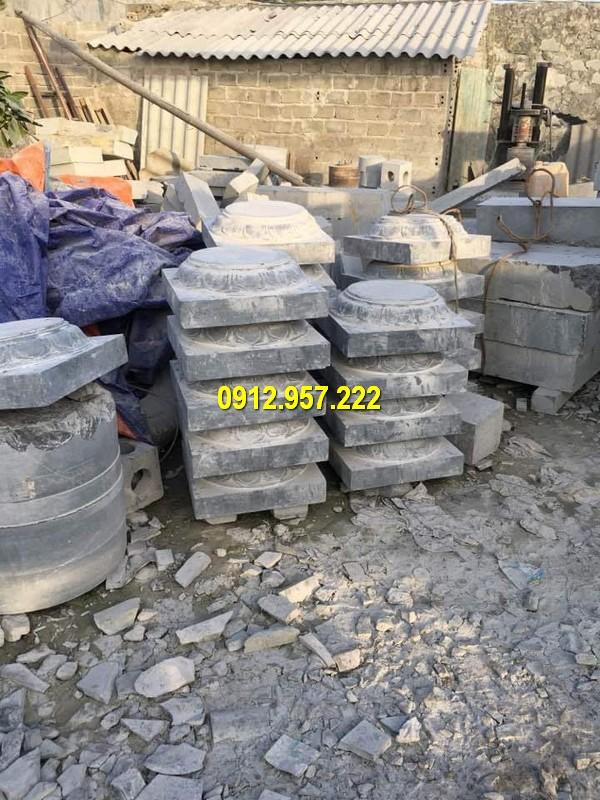 Thi công lắp đặt bán mẫu chân cột bằng đá tại Vĩnh Long