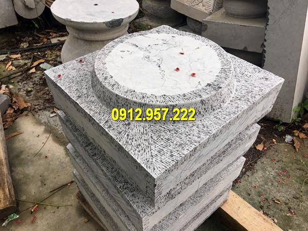 Thi công lắp đặt bán tảng chân cột đá ở Bạc Liêu