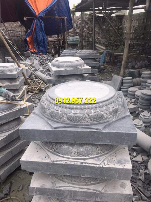Đá mỹ nghệ Thái Vinh thi công làm bán chân cột đá tại các tỉnh thành miền Nam uy tín