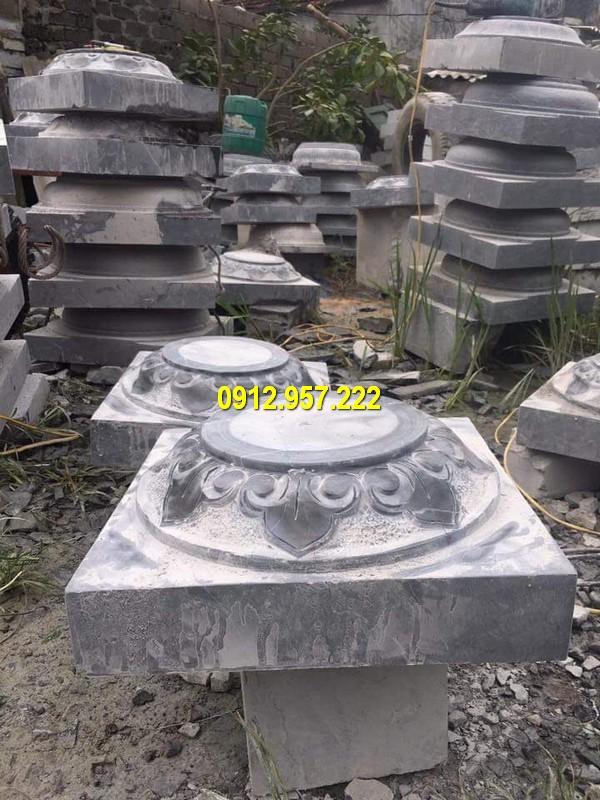 Thi công lắp đặt bán chân cột bằng đá đẹp ở Long An