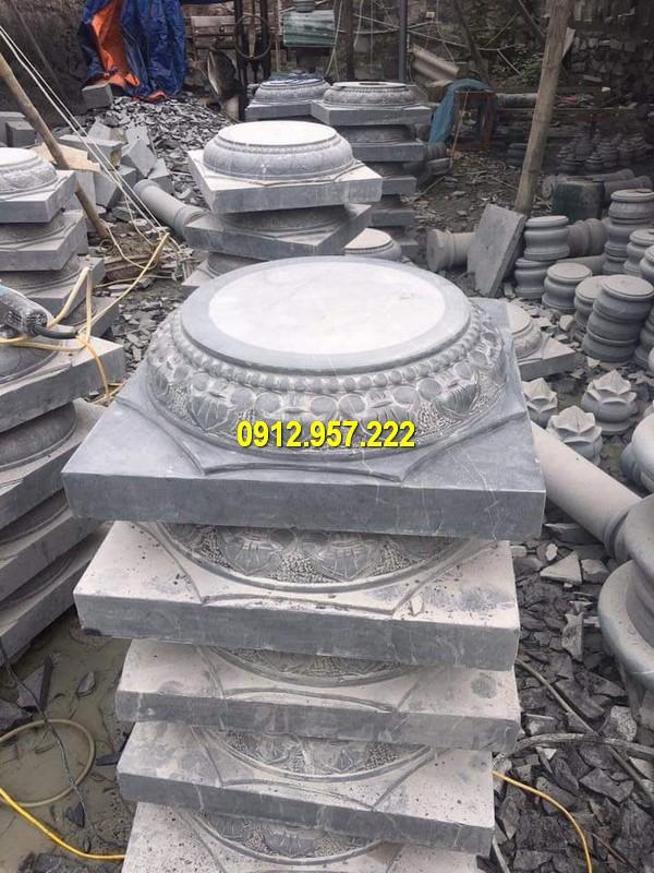 Thi công lắp đặt bán chân đế cột đá tại Đồng Tháp
