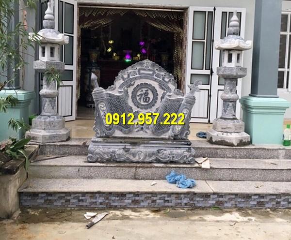Làm bình phong cuốn thư đá đẹp ở Hà Giang